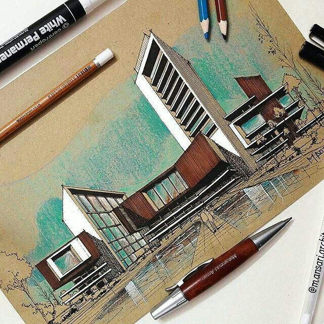 Sketch Eskiz Dibujo De Arquitectura Bocetos Arquitectonicos Croquis Arquitectura