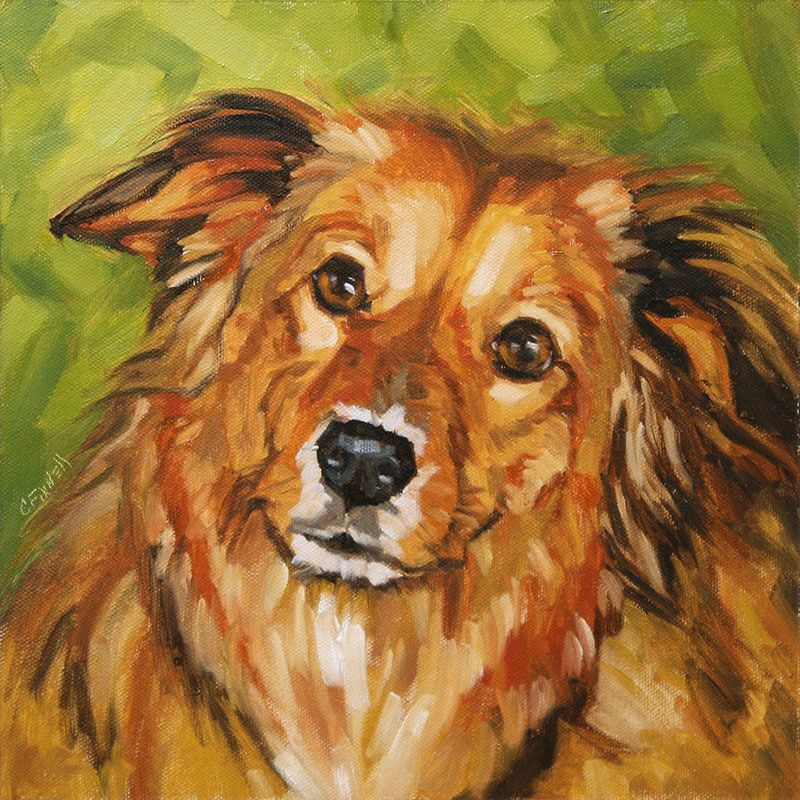 Only Posting Because It Looks Like My Baby Rusty Dog Paintings