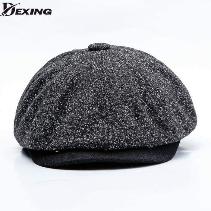 6542e8cc6 New Winter Men Wool Berets Casual Wide berets hat Tweed Gatsby ...