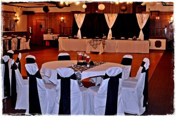 Black And White Reception Decor Wedding Diy Red Hall