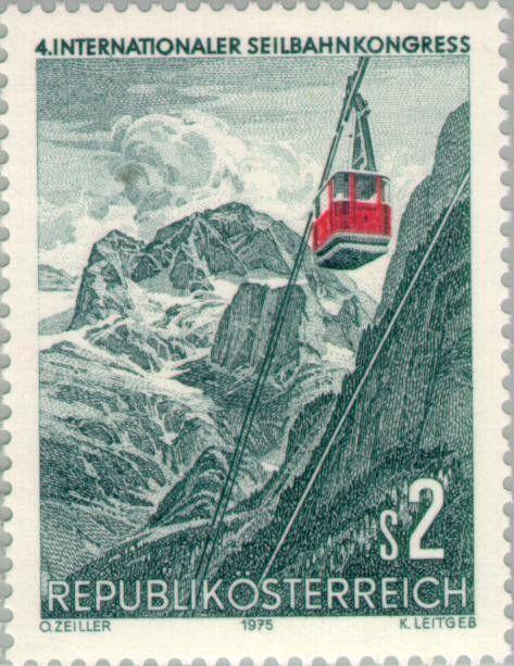 Stamp: Gosaukammbahn, Dachstein (Austria) (Int. Cable Car Congress) Mi:AT…