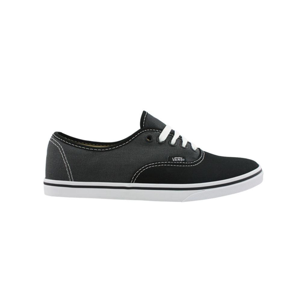 a8bf9c9fd1 Vans Authentic Lo Pro Skate Shoe Black Gray