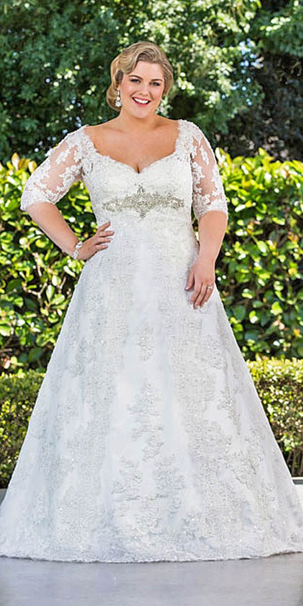 18 Plus-Size Wedding Dresses  A Jaw-Dropping Guide ❤ See more  8926c75b74