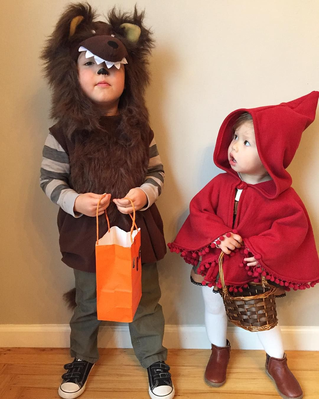 Costume Ideas Cute: Little Red Riding Hood & The Wolf Siblings Costumes
