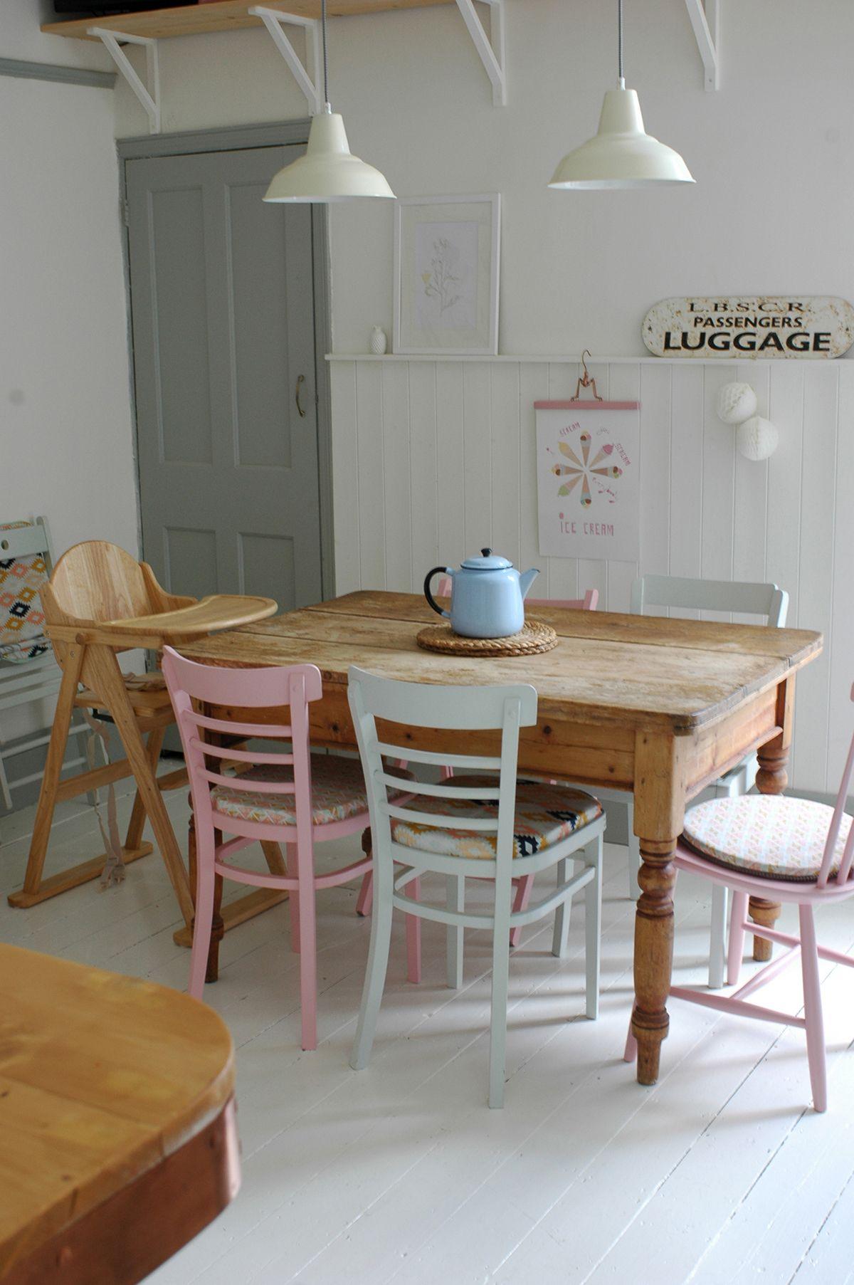 Pastel dining room | sisustus | Pinterest | Esszimmer, Rustikales ...