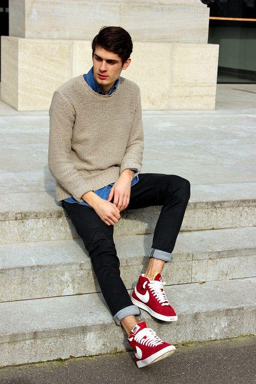 Nike Blazer Mid Vintage Look Style Buscar Con Google La Moda Del Muchacho Adolescente Outfits Casuales Ropa De Hombre