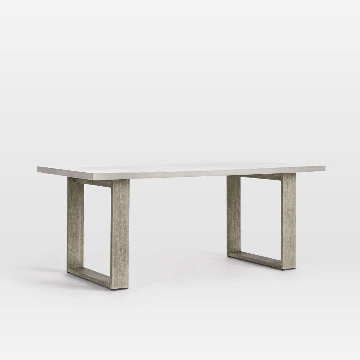 Concrete Outdoor Dining Table Weathered Grey Concrete Outdoor