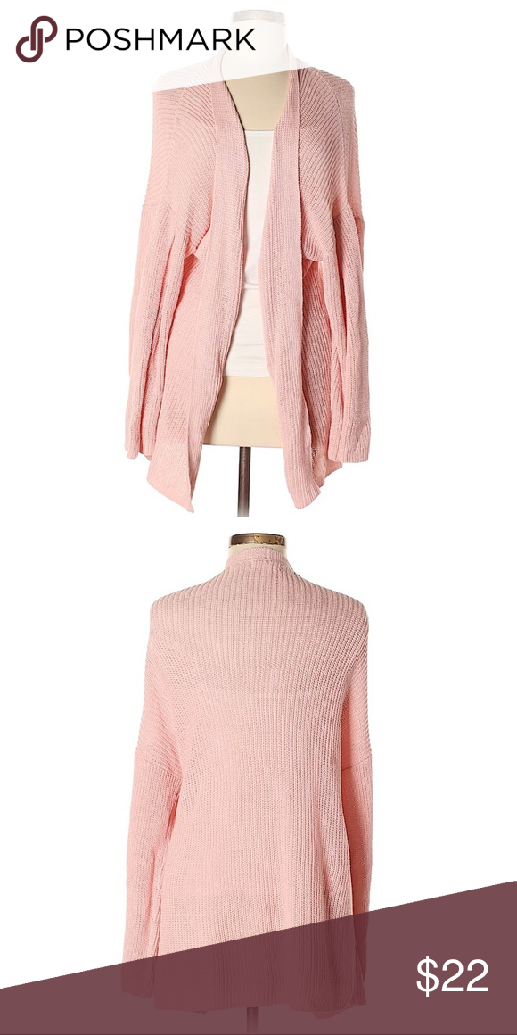 Abound Light Pink Open Front Cotton Sweater Tight Dresses Cotton Sweater Cotton Cardigan Sweater