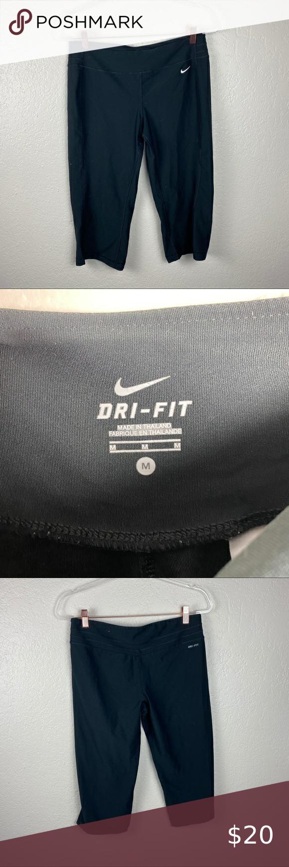 Nike Dri Fit Medium Black cropped leggings M | Cropped ...