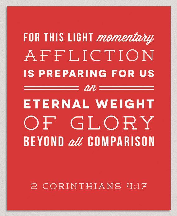 Image result for bible glory light affliction