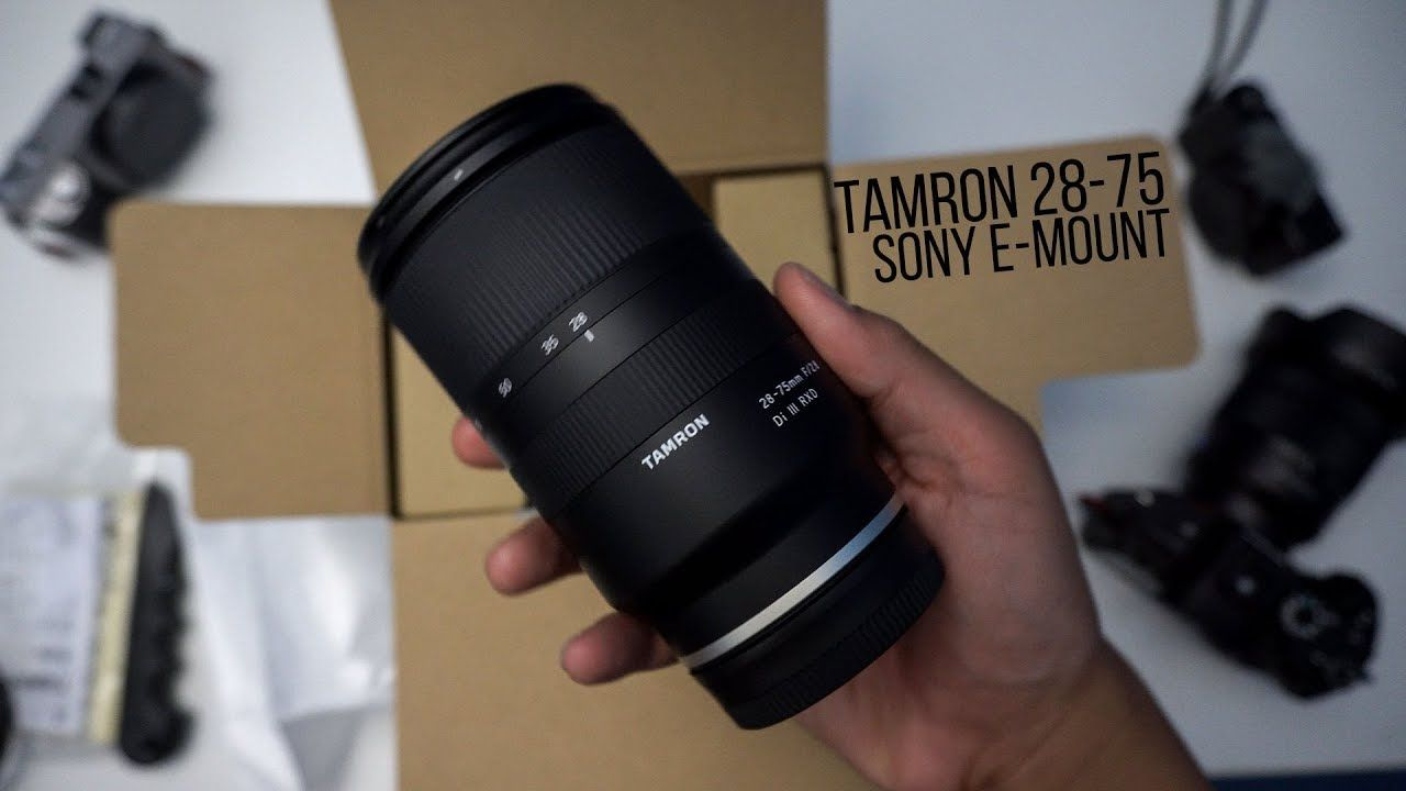 Tamron 28 75mm F 2 8 Sony E Unboxing Does It Shoot 20fps On The Sony A9 Tamron Sony Unboxing