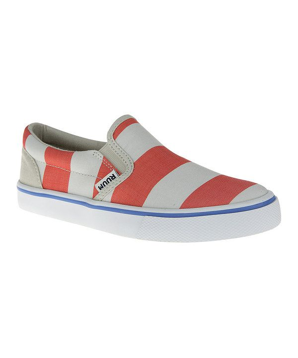 $16.99 reg 29, lots of other cute colors Another great find on #zulily! Spice Orange Stripe Sneaker - Boys by RUUM #zulilyfinds