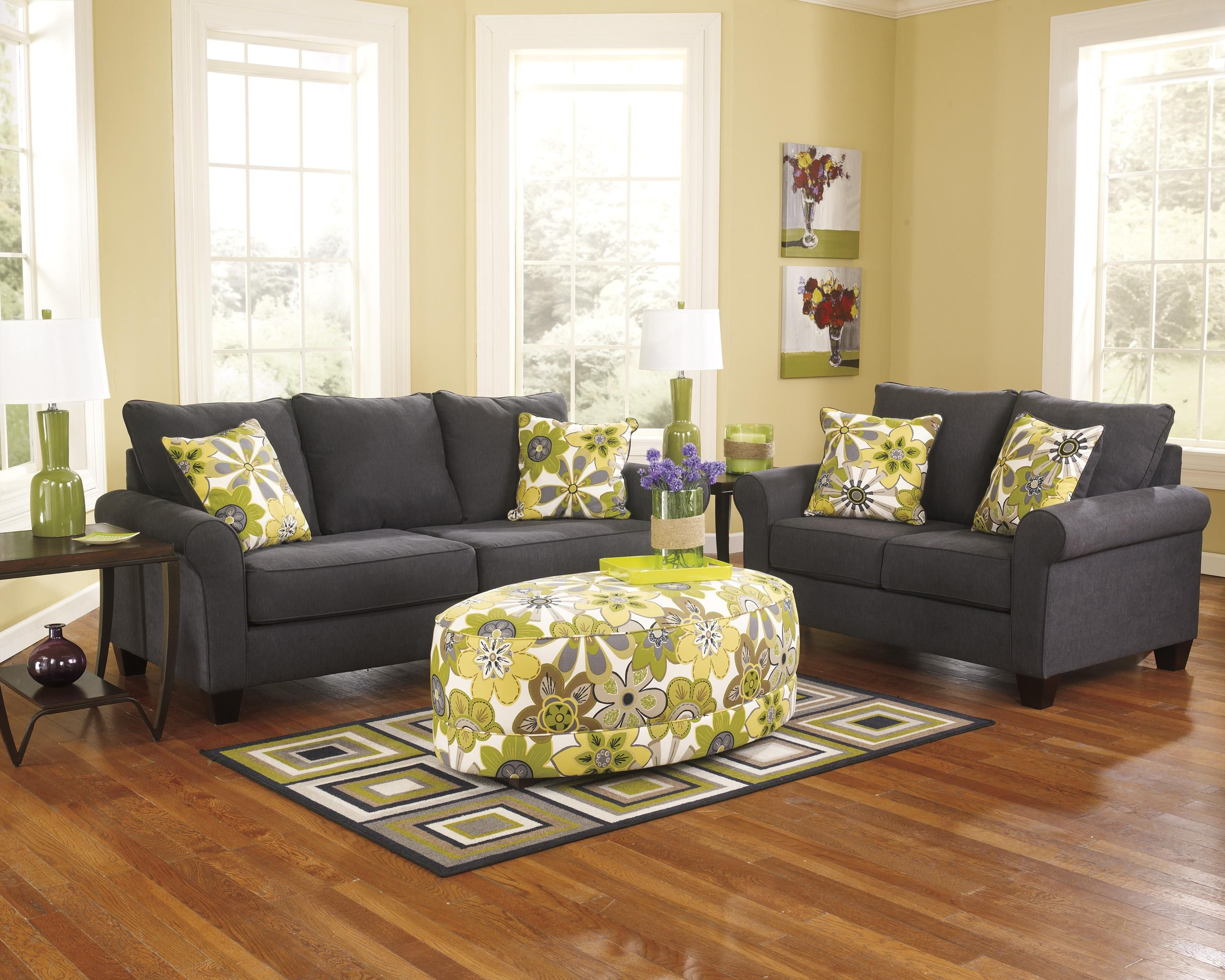 Best Nolana Charcoal Stationary Living Room Group By 400 x 300