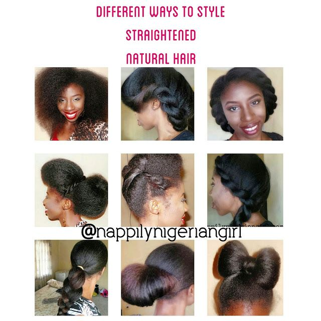 Protective Styles For Straightened Natural Hair Natural Hair Styles Natural Hair Braids Straightening Natural Hair