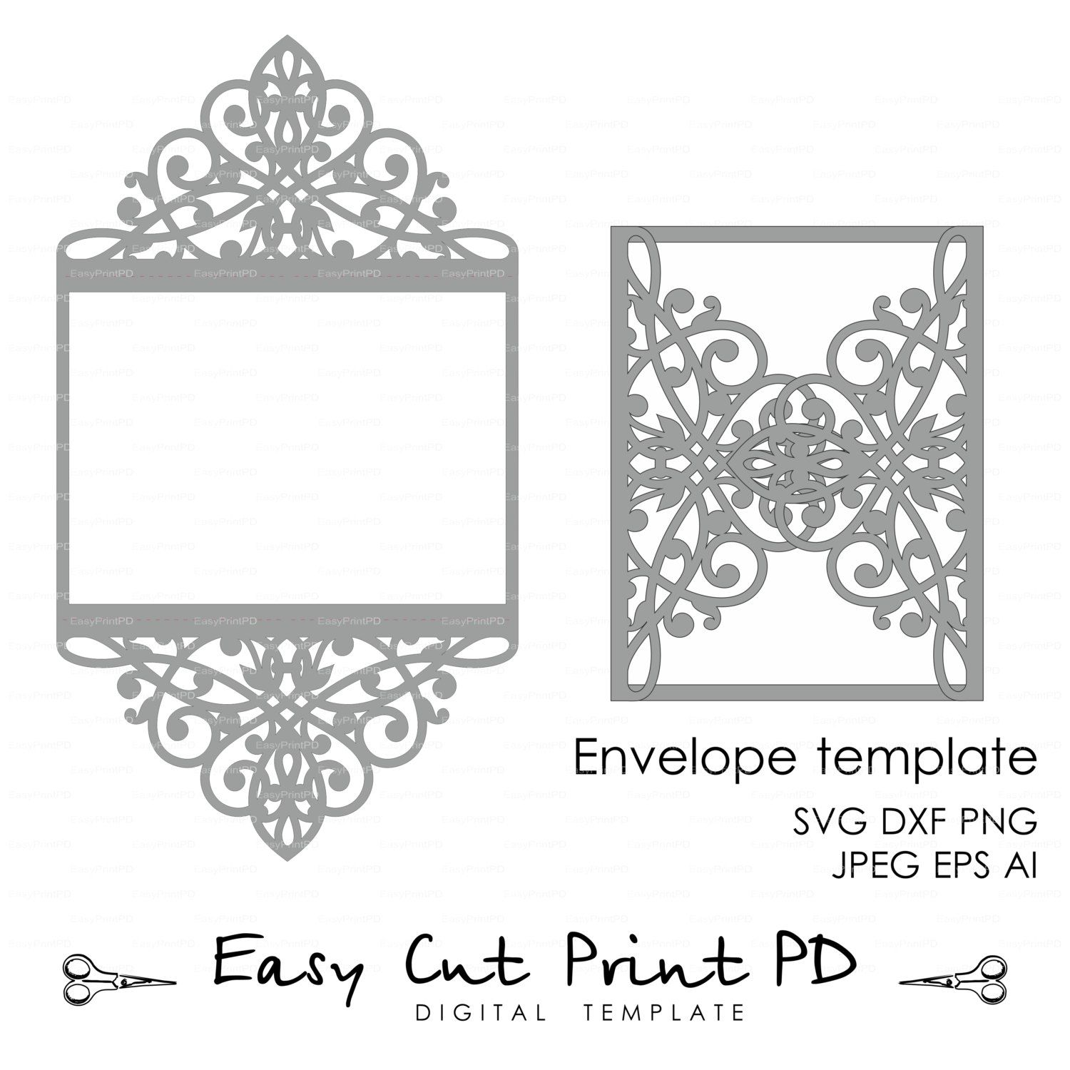 Wedding invitation Pattern Card 5x7\