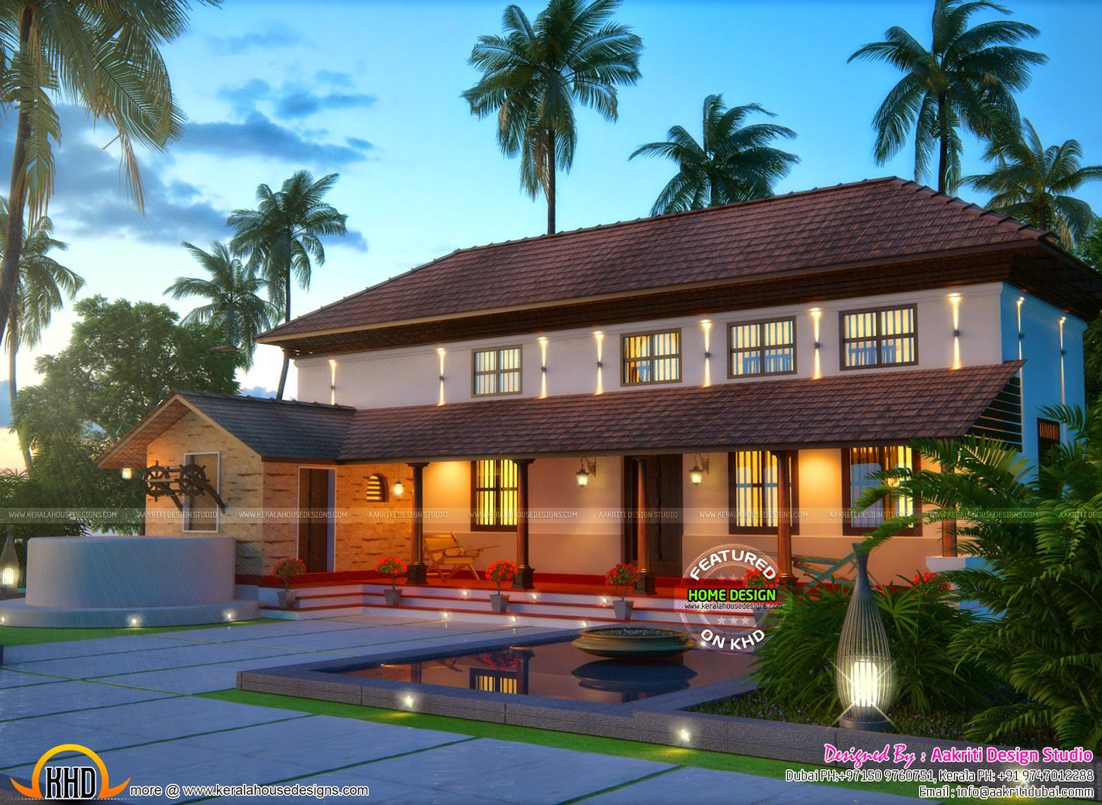 Pure Kerala Traditional Farmhouse Craftsman style house