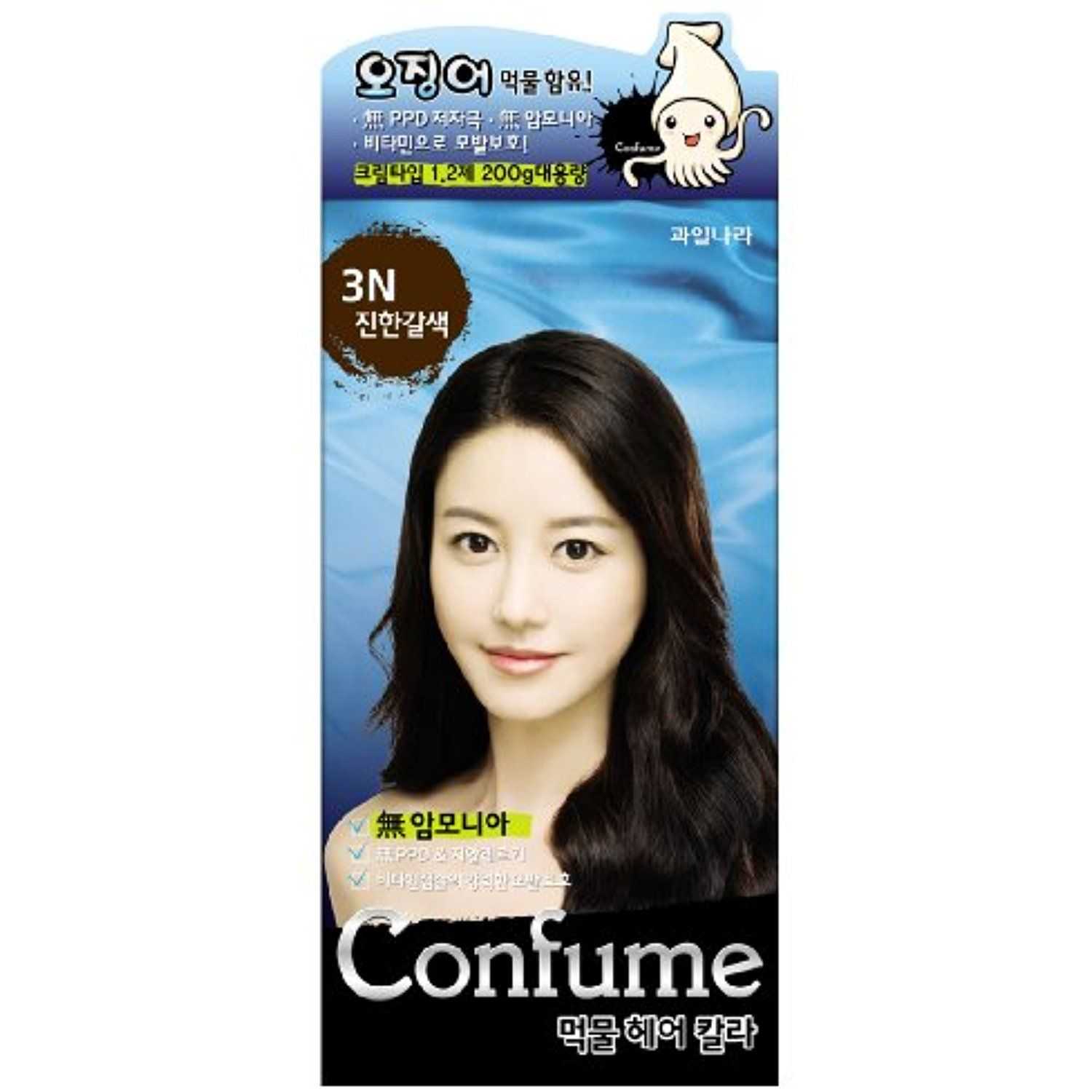 Confume Squid Ink Hair Color 3n Dark Brown Click Image For More