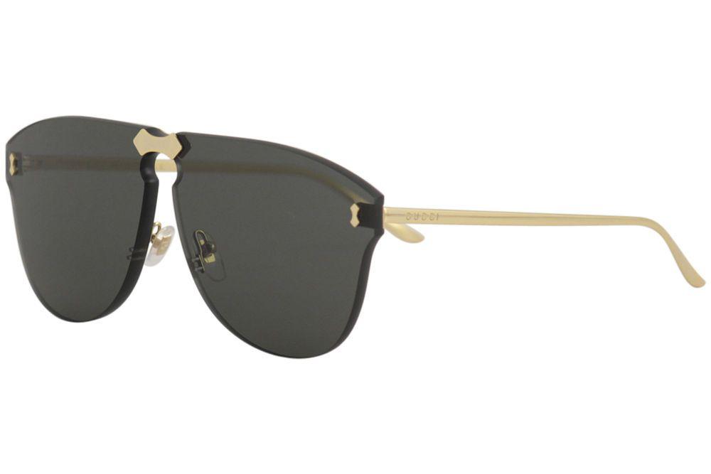 f3dd471a6da eBay  Sponsored Gucci Men s GG0354S GG 0354 S 001 Gold Fashion Pilot Shield
