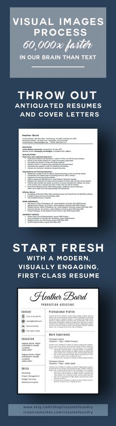 Visually engaging modern resume résumé Pinterest Etsy - modern resume tips