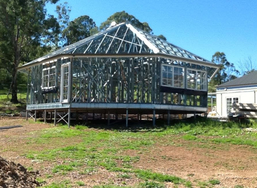 Steel Floor Frame- Octagonal Granny Flat- Wall Frames, Roof and ...