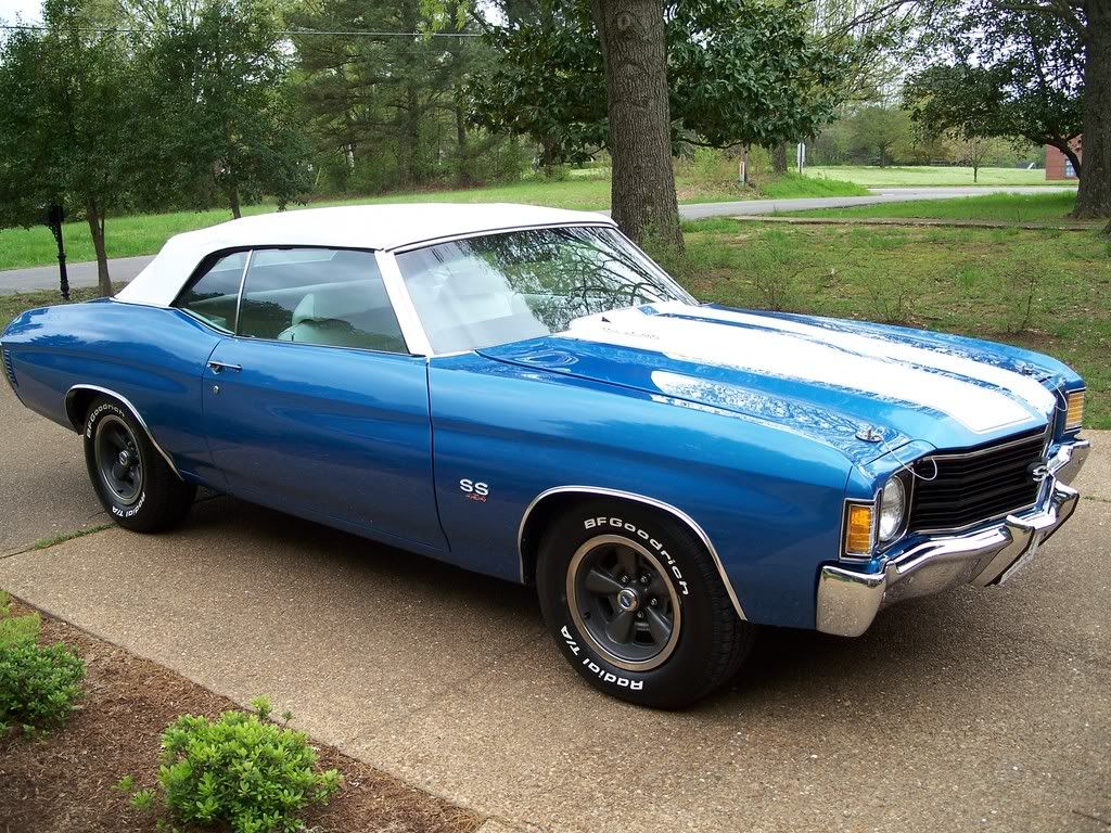 1972 chevelle ss 454 convertible re 72 vert mulsanne blue black or