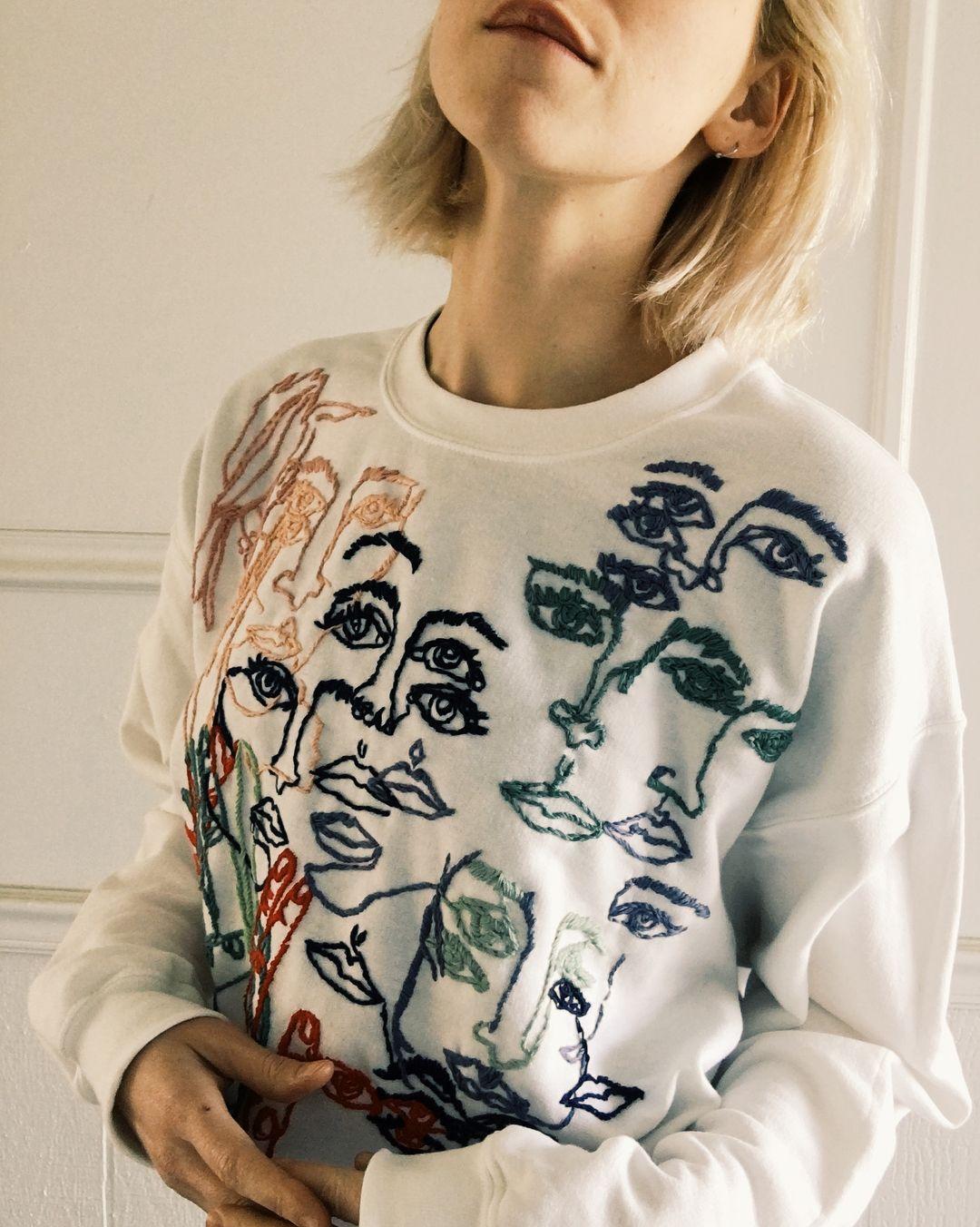 "19.8k Likes, 448 Comments - ⚡️Tessa⚡️ (@tessa_perlow) on Instagram: ""Contour sweatshirt #embroidery"""