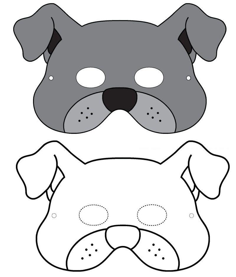 Masque de chien imprimer activt s avec les enfants - Image de chien a imprimer ...