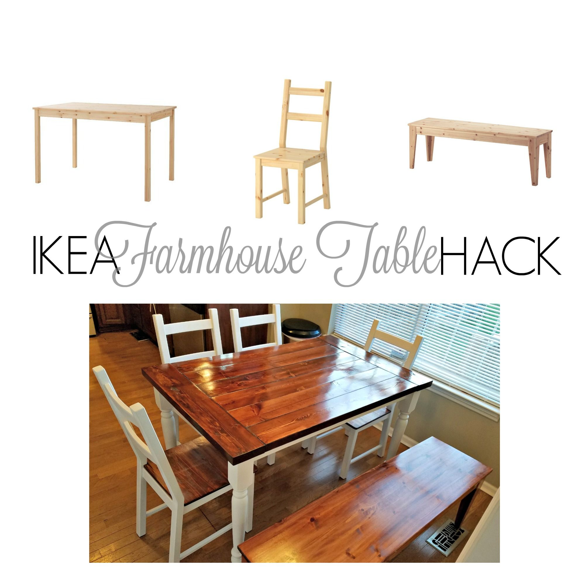 Ikea hack from ikea ingo to farmhouse table home decor ideas if you handy with a drill you can take on this ikea hack by taking the ingo table from basic pinewood to stunning farmhouse inspired kitchen table workwithnaturefo