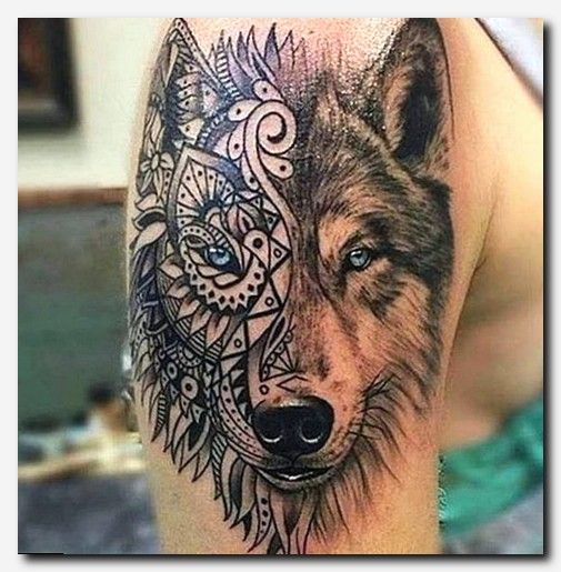 Tattoogs Tattoos Mens Shoulder Tattoo Tribal Wolf Tattoo