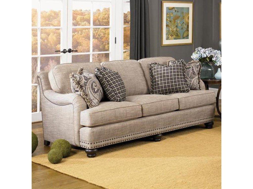 Smith Brothers 388 English Sofa With Rolled Back English Arms And Nail Head Trim Johnny Janosik Sofa English Sofa Furniture Living Room Decor Inspiration