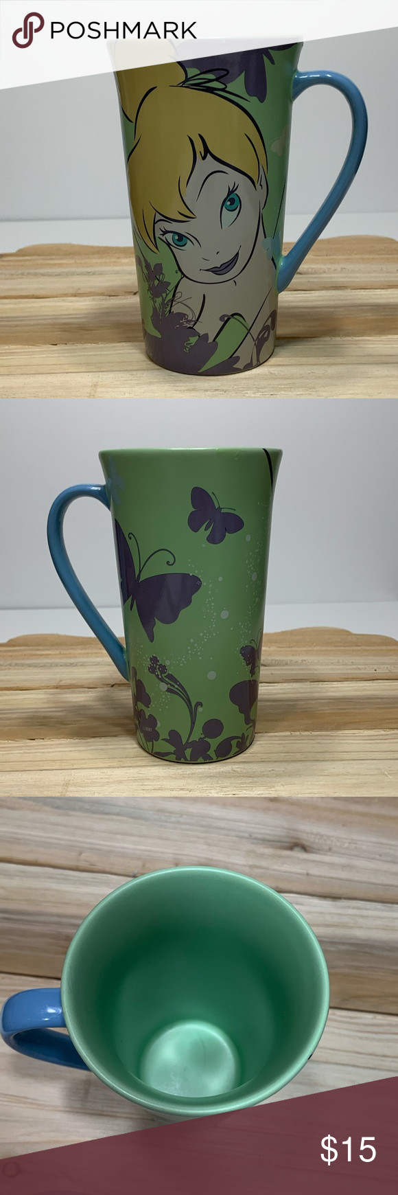 Disney tinker bell coffee mug 17 oz cup Pre-owned in good condition coffee mug Disney Kitchen Coffee & Tea Accessories #disneykitchen
