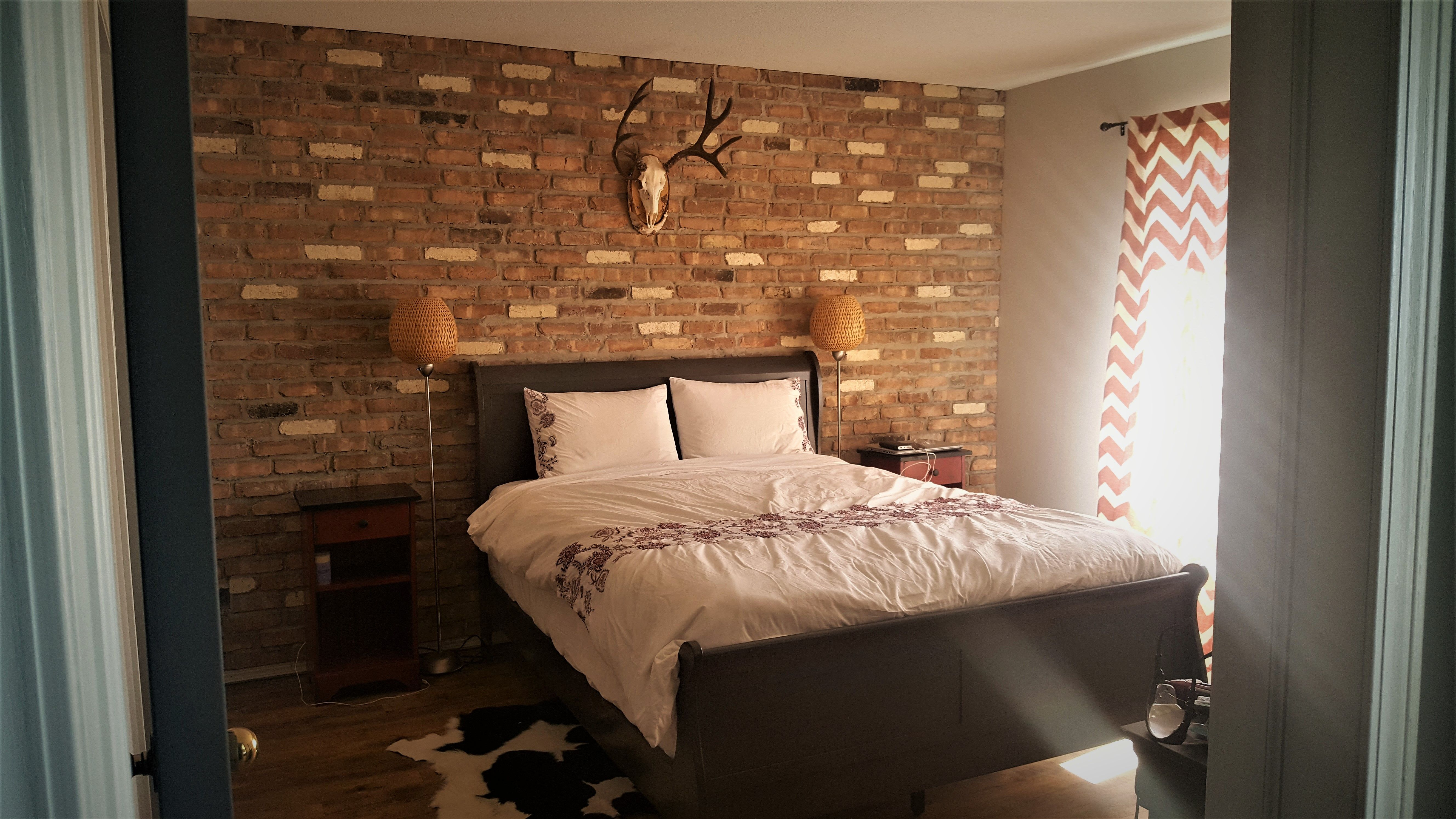 Brick Accent wall. Chicago Red Brick Brick accent walls