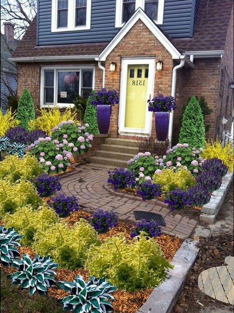 63+ Lovely Small Front Yard Landscaping Ideas | Small yard ...