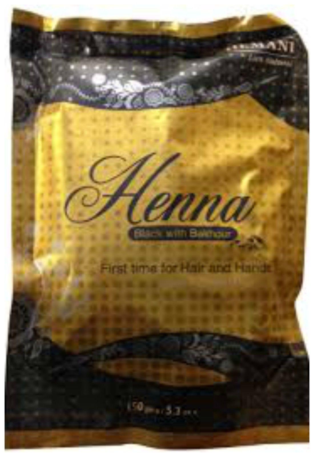 150g Hemani Natural Black Henna Powder With Bakhour Essential Oils