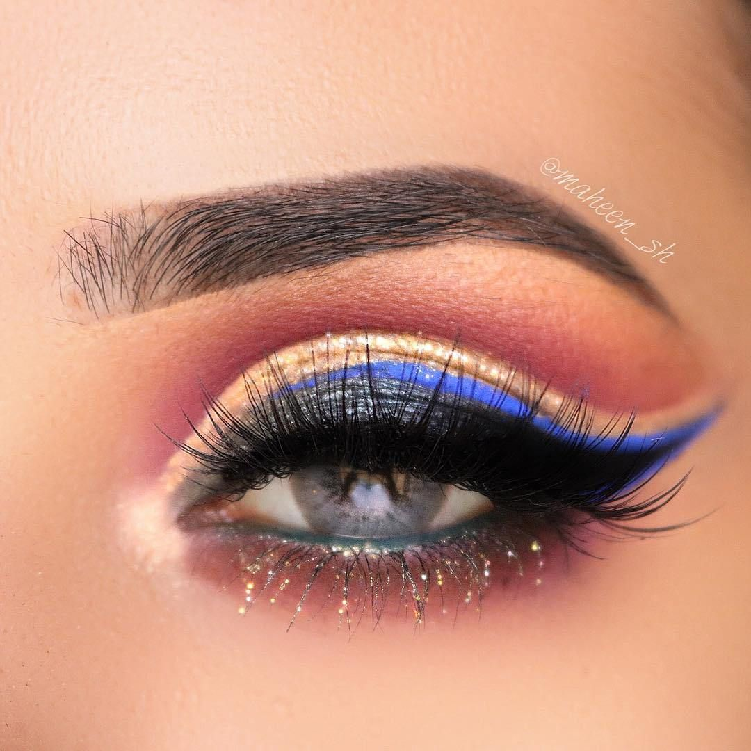 Fluttering Glitter eye makeup