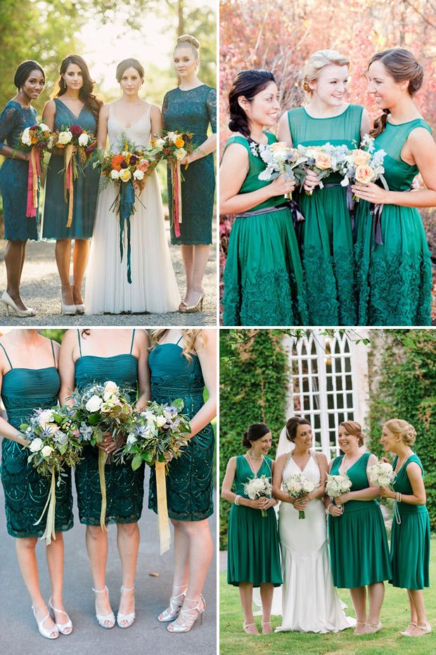 bafc6c28299 Green with Envy for these Gorgeous Green Bridesmaid Gowns ...