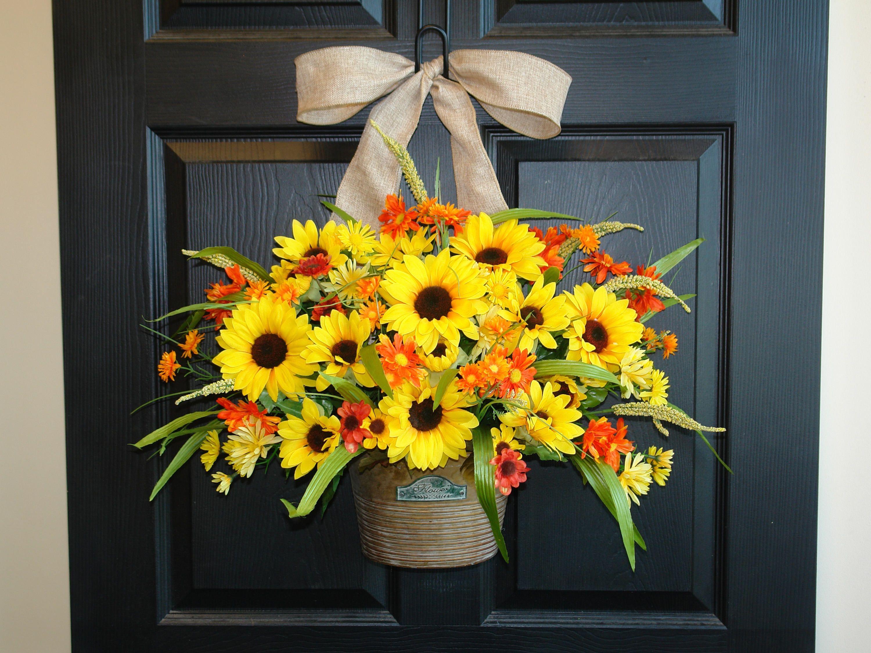Fall wreaths summer wreaths for front door wreaths outdoor wreaths ...