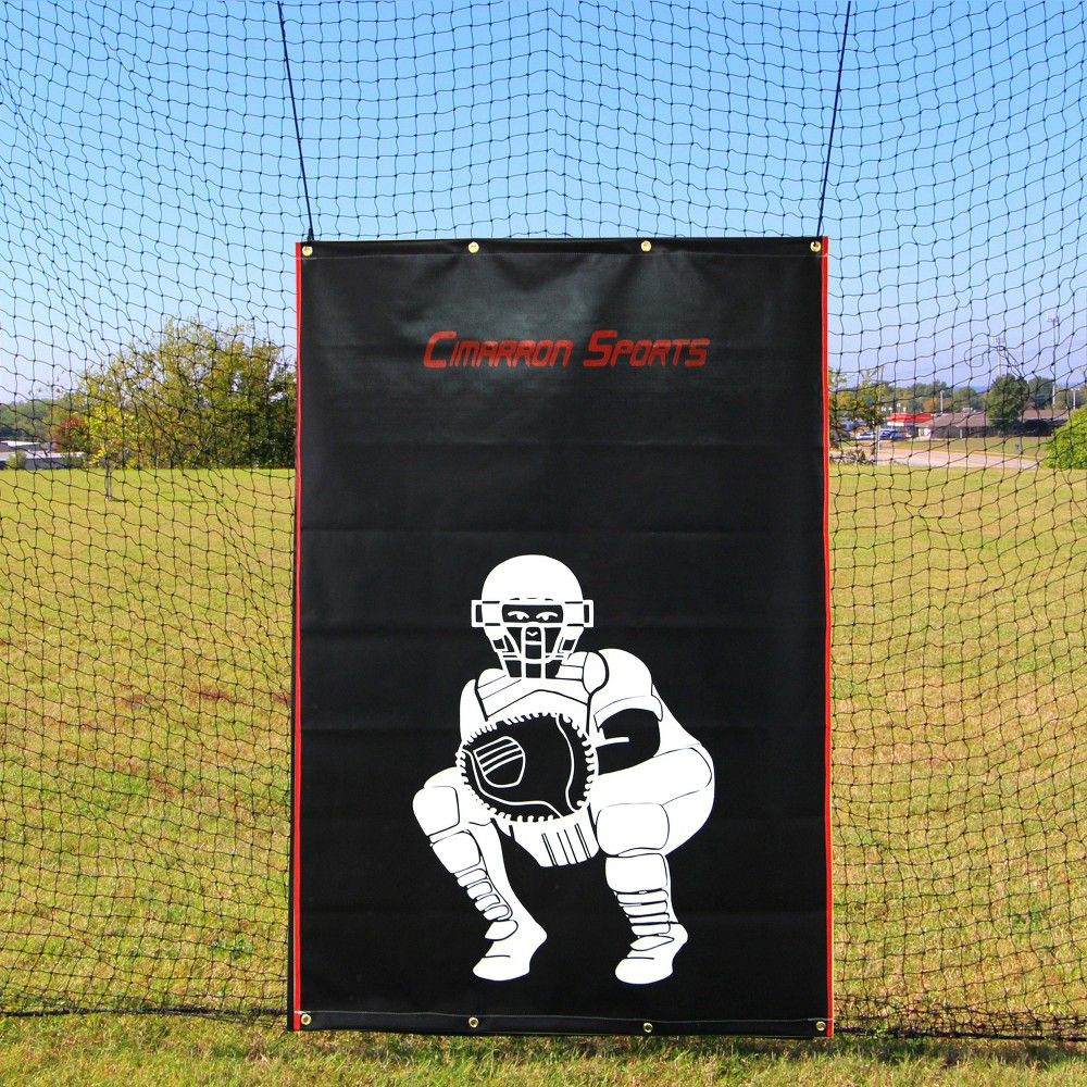 Cimarron Sports 4 X 6 Foot Baseball Softball Pitcher Training Aid Practice Batting Cage Net Vinyl Backstop With Catcher Image Backstop Only In 2021 Batting Cages Softball Catcher Softball Pitcher