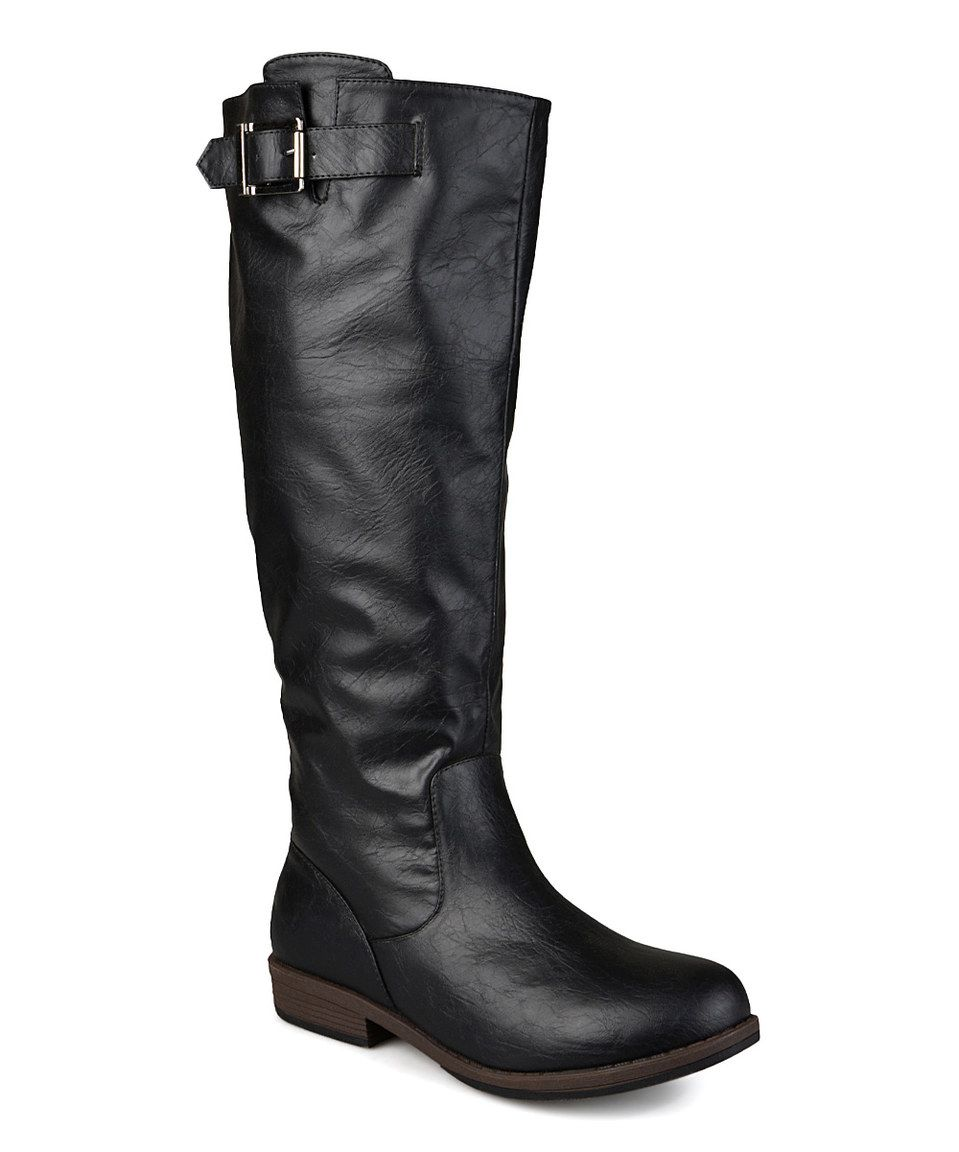 ba16bf7ad4d Journee Collection Black Amia Wide-Calf Riding Boot by Journee Collection   zulily  zulilyfinds
