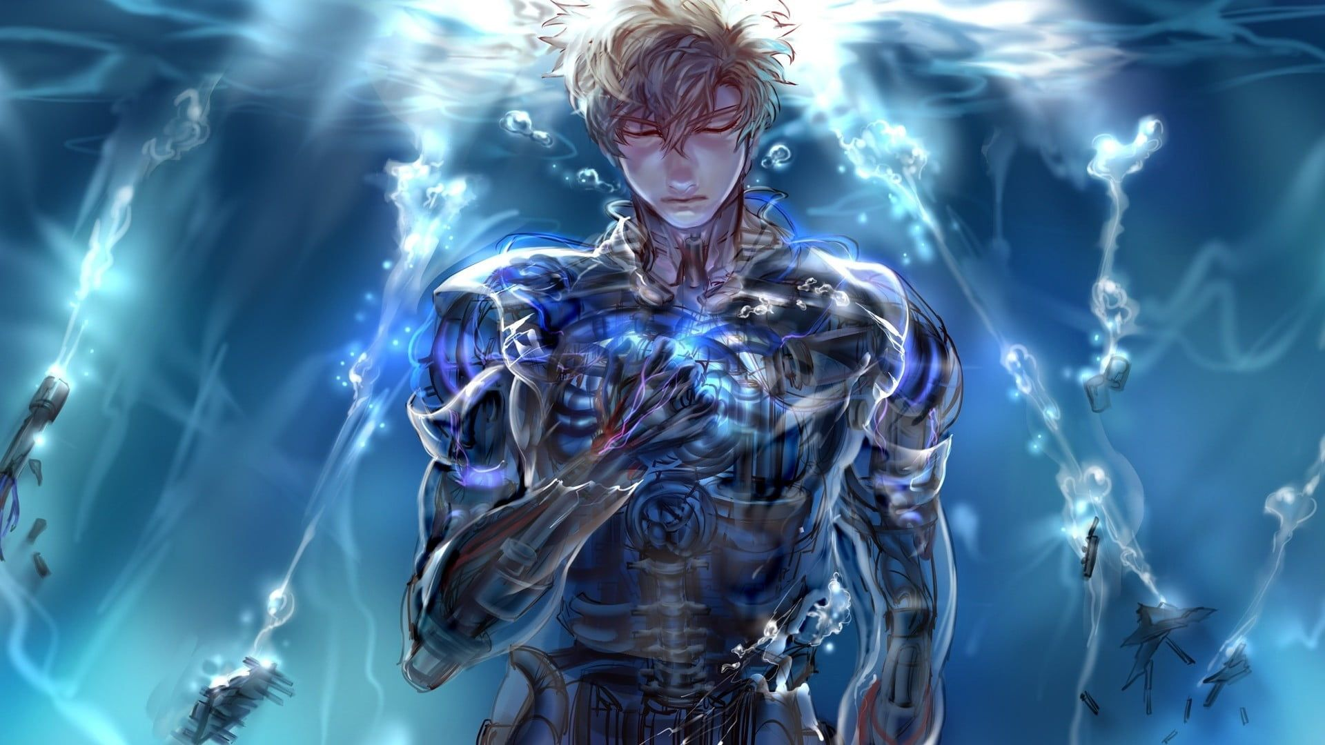 One Punch Man Genos Boy Anime One Punch Man Anime One Punch Man