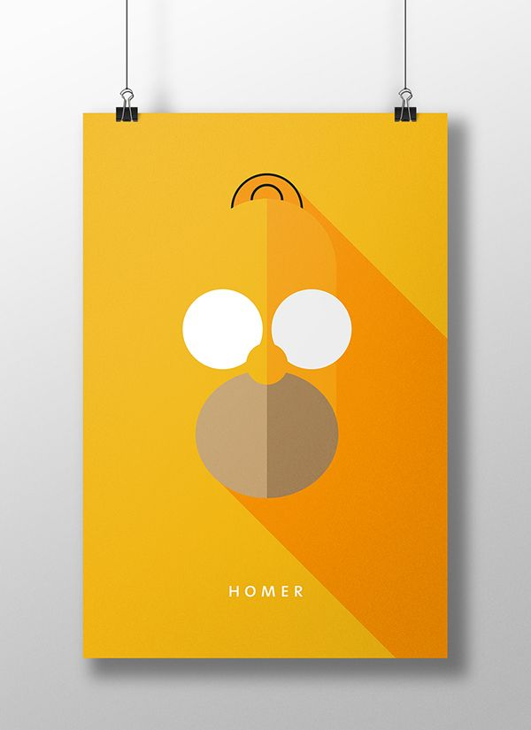 Minimalistic Flat Design Movie/TV show character poster