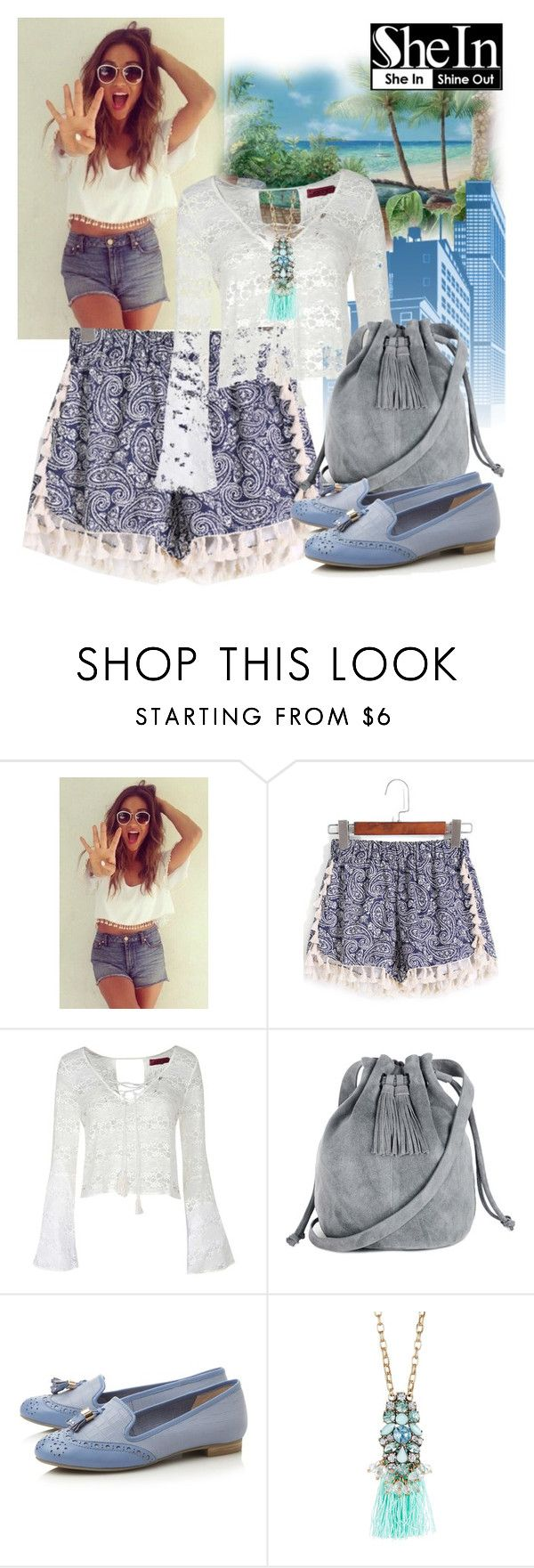 """Shein shorts"" by irinavsl ❤ liked on Polyvore featuring WithChic, Boohoo, Warehouse and Olivia Welles"