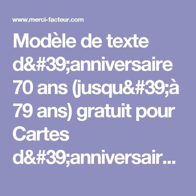 Texte Invitation Anniversaire 70 Ans