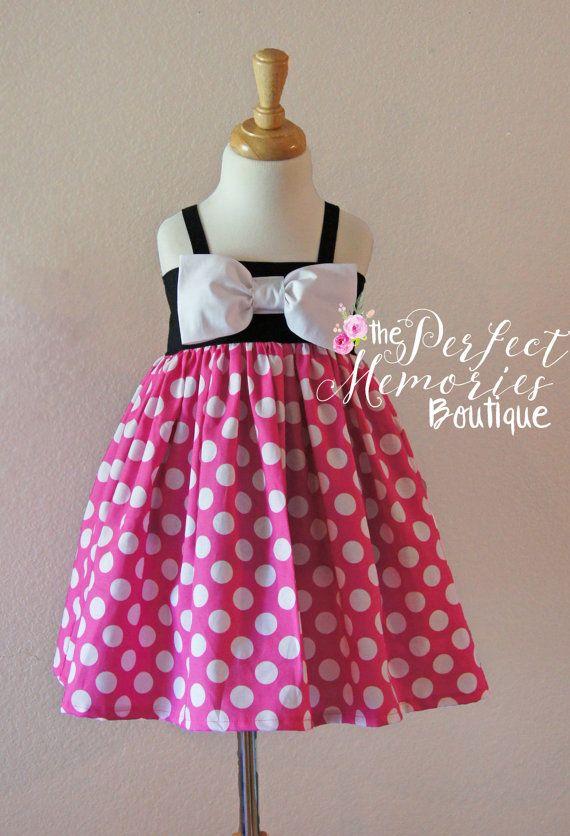 Pink Minnie Mouse Dress | Birthday Dress | Disney Dress | Girls ...