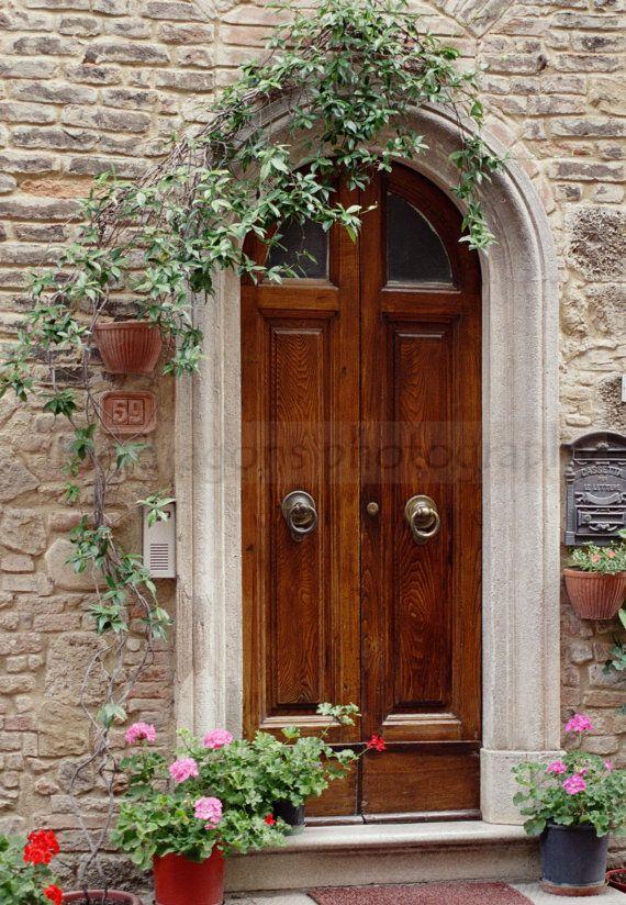 Matted photography italian art door print european for European entry doors