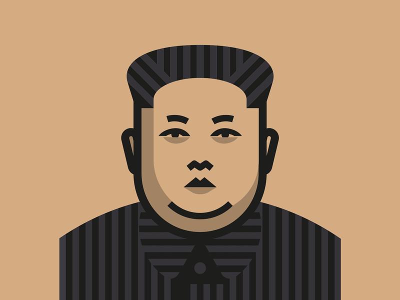 Kim Jong Un Illustration Character Design Vector Portrait Illustration Vintage Pop Art