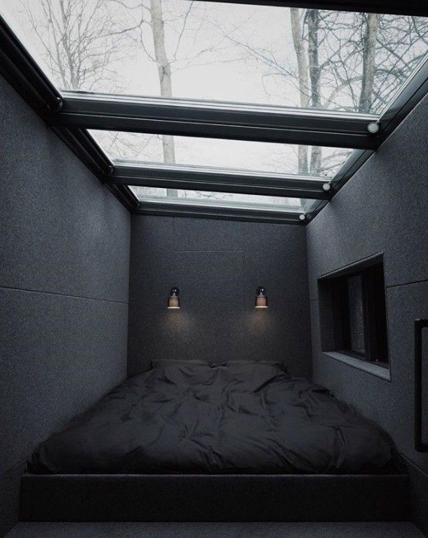 Pin by Sana:) on Love black | Minimalist bedroom, Modern ...