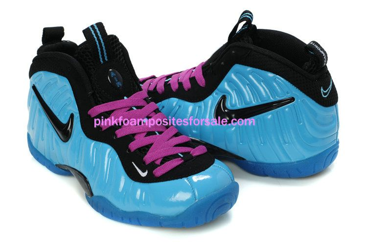 Electric Blue #Foamposites pro Womens electric blue Purple Black Foam  Basektball Shoes #Womens