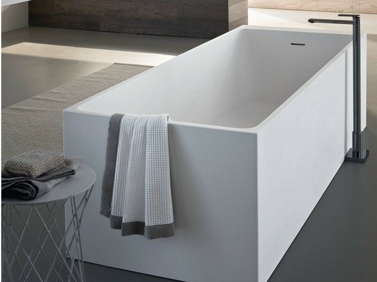Vasca da bagno centro stanza rettangolare SQUARE Collezione Disenia ...