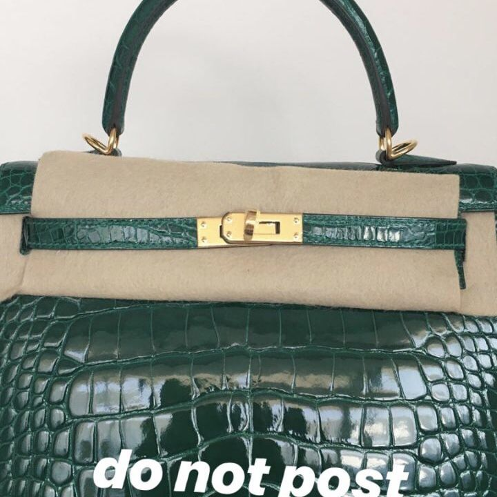 2f12f841b1 Hermès Kelly 25 Vert Emeraude Sellier Alligator Mississippi Lisse C Stamp  2018  kelly25  thefrenchhunter
